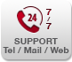 supporto tel / mail / web 24h24 e 7g/7